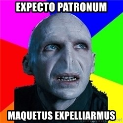 Poor Planning Voldemort - expecto patronum maquetus expelliarmus