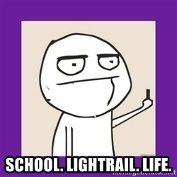 Middle Finger Guy Rage comic. - School. Lightrail. Life.