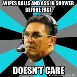 Stoic Ron - Wipes balls and ass in shower before face Doesn't care
