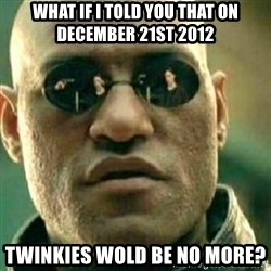 What If I Told You - What if I told you that on December 21st 2012 TwinkIes wold be no more?