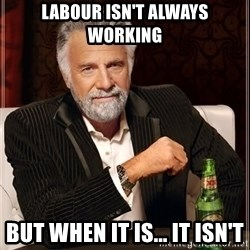 The Most Interesting Man In The World - Labour isn't always working but when it is... it isn't