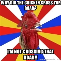 tipical_antiDNO - WHY DID THE CHICKEN CROSS THE ROAD? I'M NOT CROSSING THAT ROAD!!