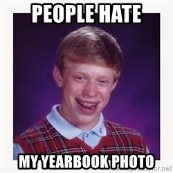 nerdy kid lolz - PEOPLE HATE MY YEARBOOK PHOTO