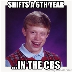 nerdy kid lolz - SHIFTS A 6TH YEAR ...IN THE CBS