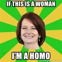 Julia Gillard - if this is a woman i'm a homo