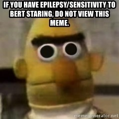 Starebert - If you have epilepsy/sensitivity to BERT STARING, do not view this MEME.