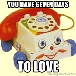 Sinister Phone - you have seven days to love