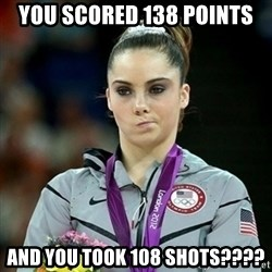 Not Impressed McKayla - You scored 138 points and you took 108 shots????