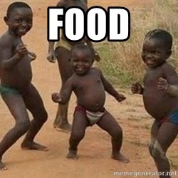 african children dancing - food