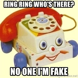 Sinister Phone - RING RING WHO'S THERE? NO ONE I'M FAKE