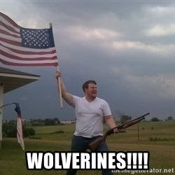 american flag shotgun guy -  WOLVERINES!!!!