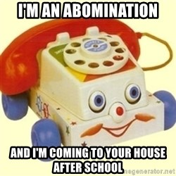Sinister Phone - i'm an abomination and i'm coming to your house after school