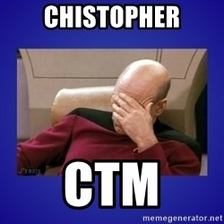 Picard facepalm  - CHISTOPHER CTM