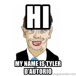 Vita Kränkta Mannen - hi My name is tyler D'autorio