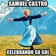 Look at all these - Samuel castro celebrando su gol