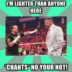 CM Punk Apologize! - I'M LIGHTER THAN ANYONE HERE *CHANTS* NO YOUR NOT!