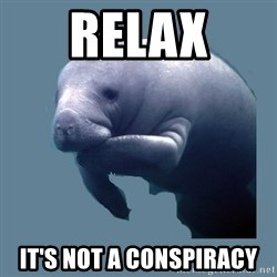 calming manatee - Relax It's not a Conspiracy