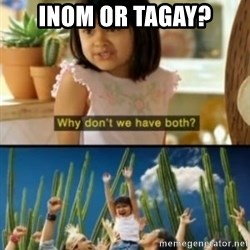 Why not both? - Inom or tagay?