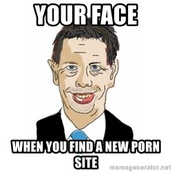 Vita Kränkta Mannen - your face when you find a new porn site