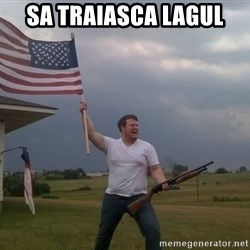 american flag shotgun guy - Sa traiasca lagul