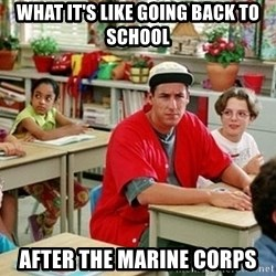 GI Billy Madison - What it's like going back to school After The marine corps