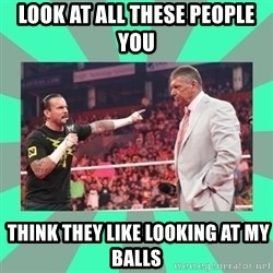 CM Punk Apologize! - LOOK AT ALL THESE PEOPLE YOU   THINK THEY LIKE LOOKING AT MY BALLS