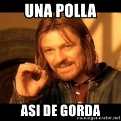 Does not simply walk into mordor Boromir  - UNA POLLA ASI DE GORDA