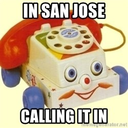 Sinister Phone - in San Jose Calling it in