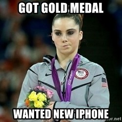 McKayla Maroney Not Impressed - got gold medal wanted new Iphone