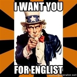Uncle sam wants you! - I want you  for Englist