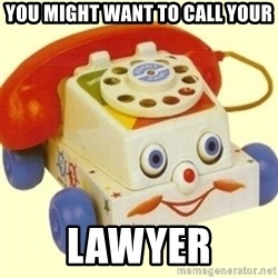 Sinister Phone - YOU MIGHT WANT TO CALL YOUR LAWYER
