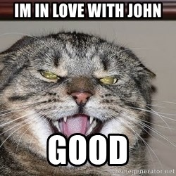 Angry Cat - im in love with john good