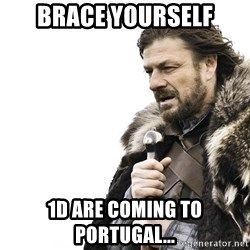 Winter is Coming - Brace yourself 1d are coming to portugal...