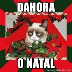 GRUMPY CAT ON CHRISTMAS - dahora o natal