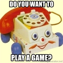Sinister Phone - do you want to play a game?