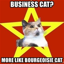 Lenin Cat Red - Business CAT? more like bourgeoisie cat