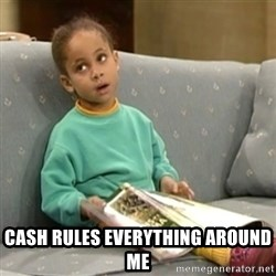 Olivia Cosby Show - Cash rules everything around me