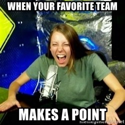 Unfunny/Uninformed Podcast Girl - WHEN YOUR FAVORITE TEAM MAKES A POINT