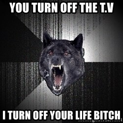 Insanity Wolf - you turn off the t.v  i turn off your life bitch