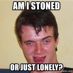 [10] guy meme - am i stoned or just lonely?