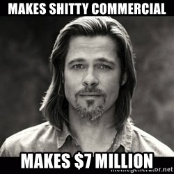 Brad Pitt Chanel - makes shitty commercial Makes $7 Million