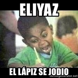 Black kid coloring - eliyaz el LÁPIZ se jodio