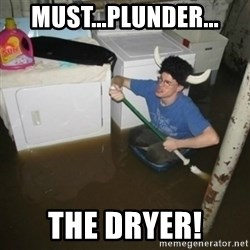laundry room viking 2012 - must...plunder... the dryer!