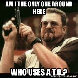 am i the only one around here - am i the only one around here who uses a t.o.?