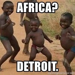 african children dancing - Africa? Detroit.