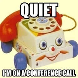 Sinister Phone - quiet I'm on a conference call