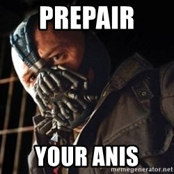 Only then you have my permission to die - Prepair  your anis