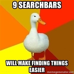 Technologically Impaired Duck - 9 searchbars will make finding things easier