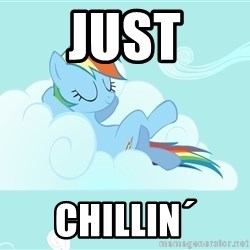Rainbow Dash Cloud - just chillin´