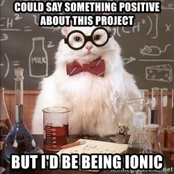 Chemistry Cat - Could say something positive about this project but i'd be being ionic
